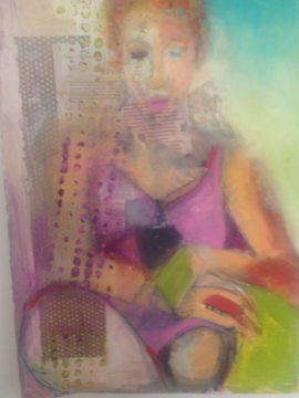 Woman with Chartreuse Hand by Ana Bass