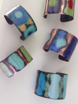 Copper Enamel Bracelets