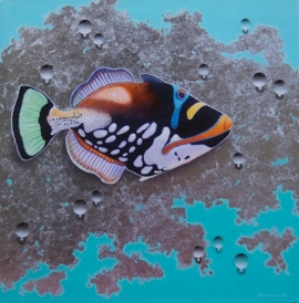 Fish on Silver Foil 1