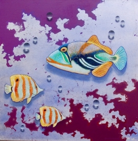Fish on Silver Foil 2