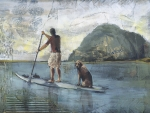 A Guy, His Dog and His Paddle Board