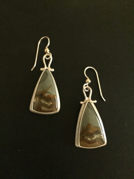 Jasper Earrings by Linda Lewis