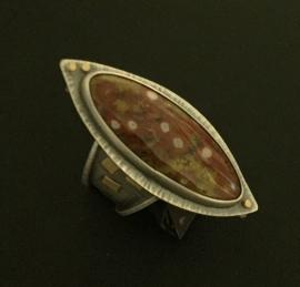 Poppy Jasper Ring
