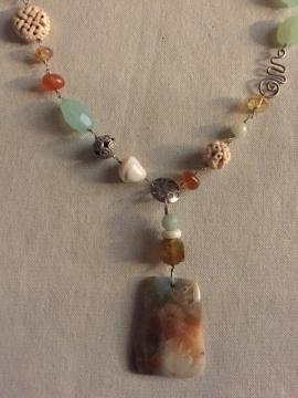 Ocean Jasper Pendant by Sharon Gove